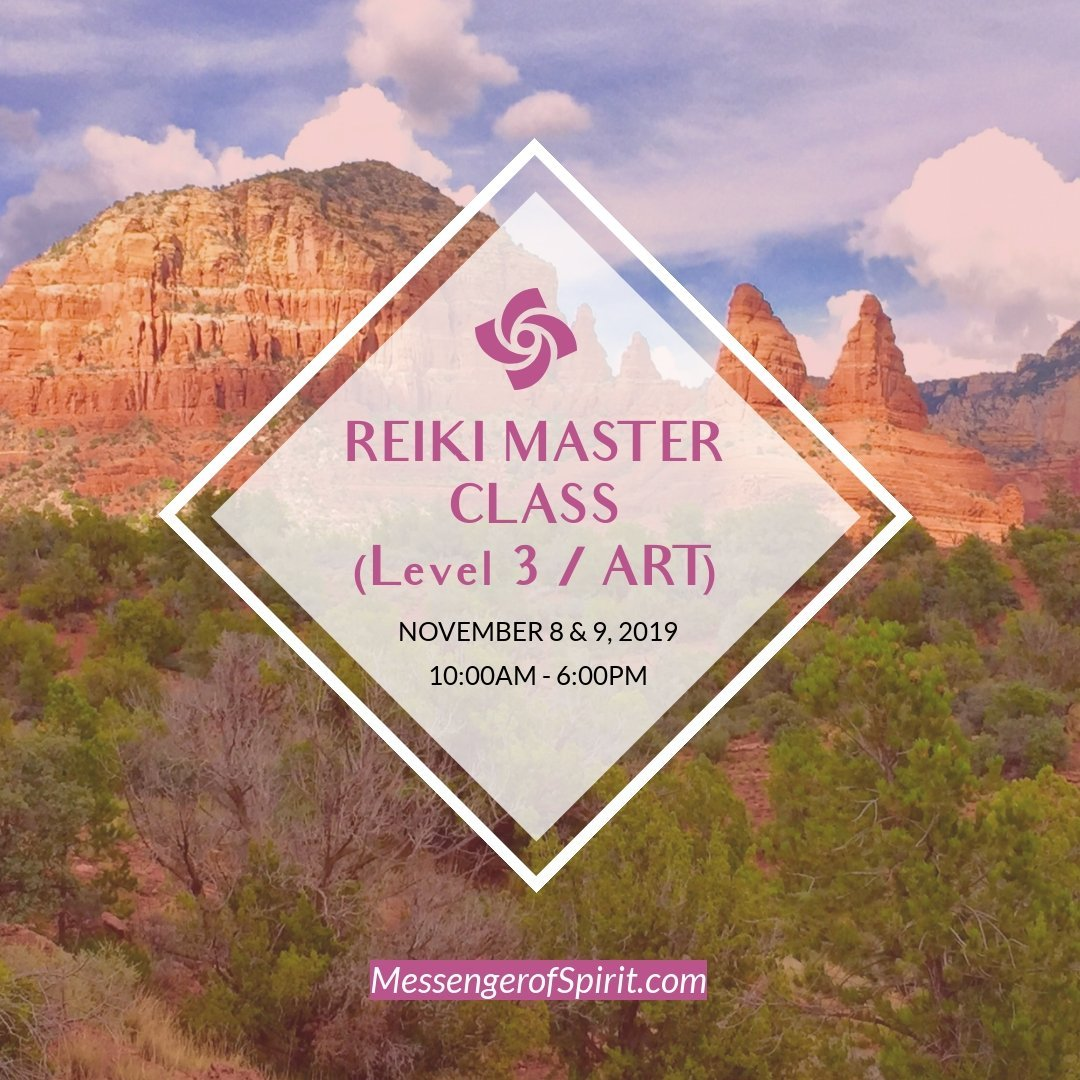 reiki master class november 2019